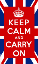 KEEP CALM AND CARRY ON UNION JACK - 5 X 3 FLAG